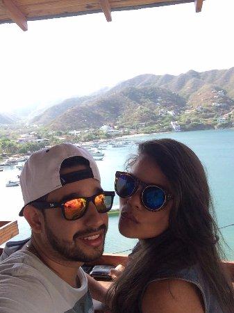 Hotel Bahia Taganga: Desayunar con esta vista...
