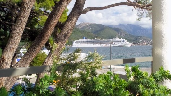 Hotel Park Ping By Cruise Ship At Kotor Bay View From The