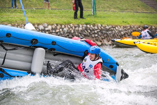 Lacko, โปแลนด์: Kayaking on White Water Course in Wietrznice