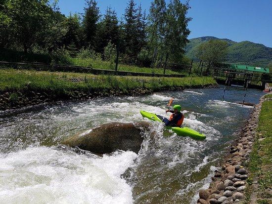 Lacko, Poland: wietrznice kayaking