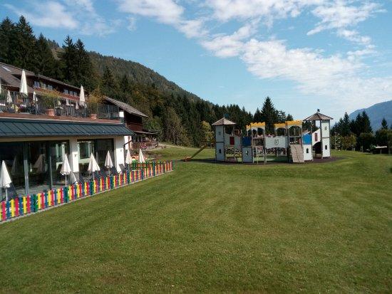 Hermagor, Österrike: parco giochi esterno