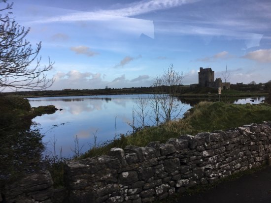Dunguaire Castle's Medieval Banquet : The Dunguarie castle from a distance