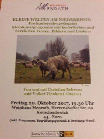 Korschenbroich, Alemania: Das Thema des Abends