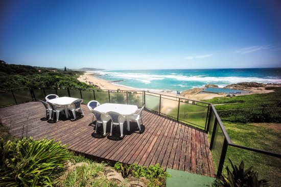 Umzumbe, South Africa: Lookout Cottage Deck with Ocean Views