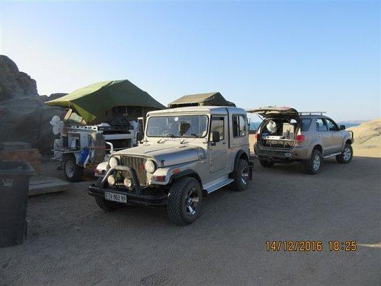 Diaz Point : Luderitz Shark Iland camping