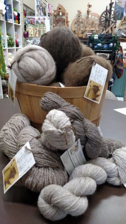 Fall River Fibers: Exclusive bison yarns and fibers available.