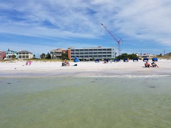 Barefoot Beach Hotel : View of the BBH from about 30' into the Gulf!