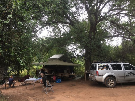 Louis Trichardt, Sydafrika: Thob tree Camp site