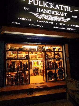 Alappuzha, Indien: Handicraft Shop In Alleppey