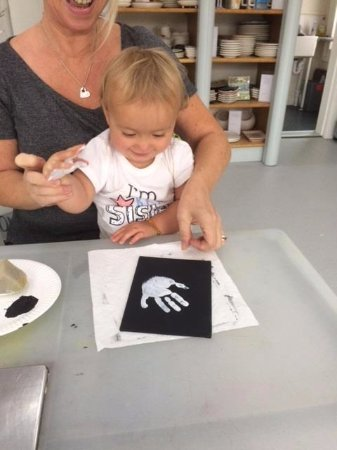 Scone, UK : Kids Hand and Feet prints always make a special gift - and lots of fun to do!