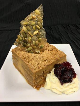 Wethersfield, CT: Pumpkin Tiramisu w/ Raspberry Compote & Whipped Cream!