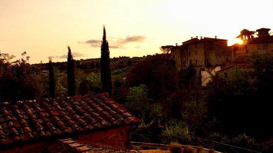 Sunset at Castel Monastero