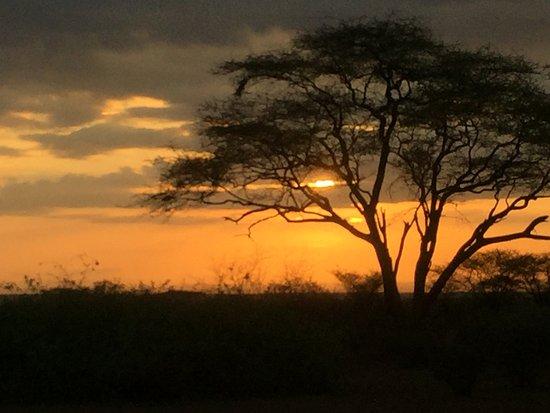 Magadi, Kenia: Sunrise from the camp