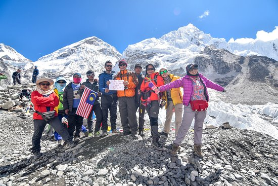 Black Diamond Expedition - Private Day Tours: Group photo at Everest Base Camp