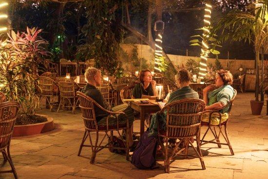 Anjuna, India: candlelight dinner