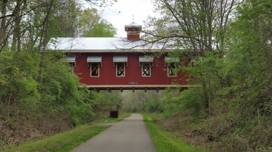 The approach to Yellow Springs on the Ohio bike trail.