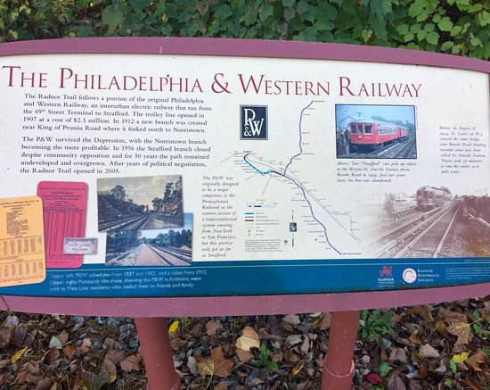 Wayne, PA: Marker on the Radnor Trail