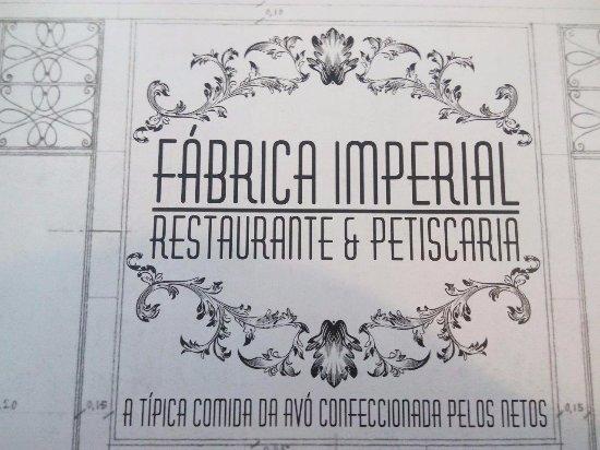 Fábrica Imperial: Os toalhetes das mesas