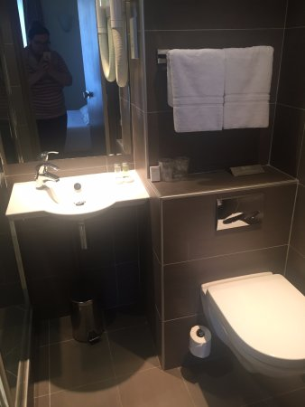 Eiffel Saint Charles: Smaller-sized bathroom, but a modern design and worked well!