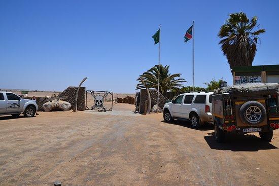 Cape Cross : entrance gates to skeleton coast