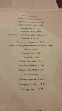 Osteria dei Sani : menu