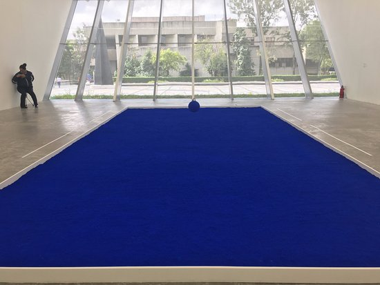 Yves Klein Exhibition Picture Of Museo Universitario De