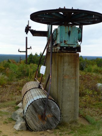Mount Agamenticus : Remnants of the old ski lift.