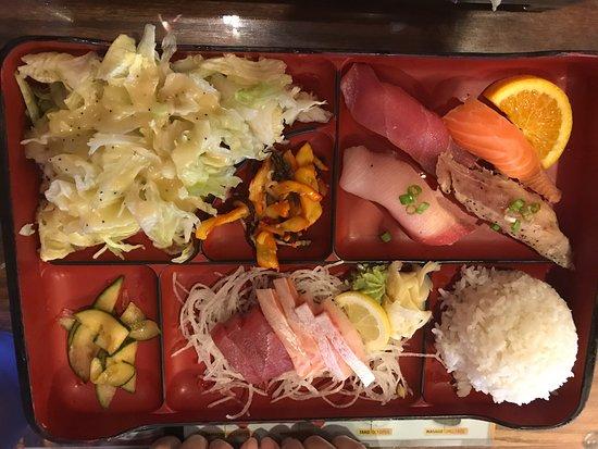 Sapporo & Sushi Restaurant: Sashimi and Sushi Bento Box