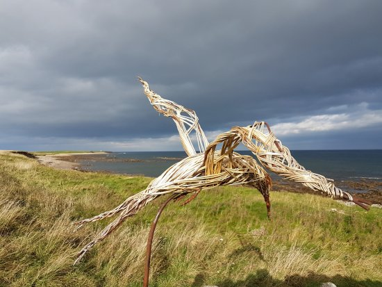 Holy Island, UK: Bird Sculpture