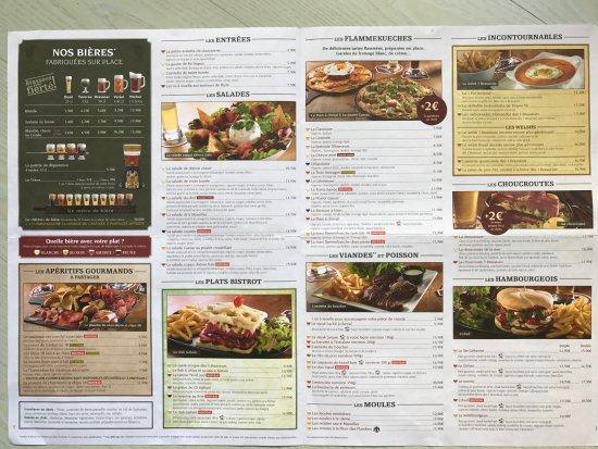 carte des 3 brasseurs Menu, page 2 & 3   Photo de Les 3 Brasseurs, Lille   Tripadvisor