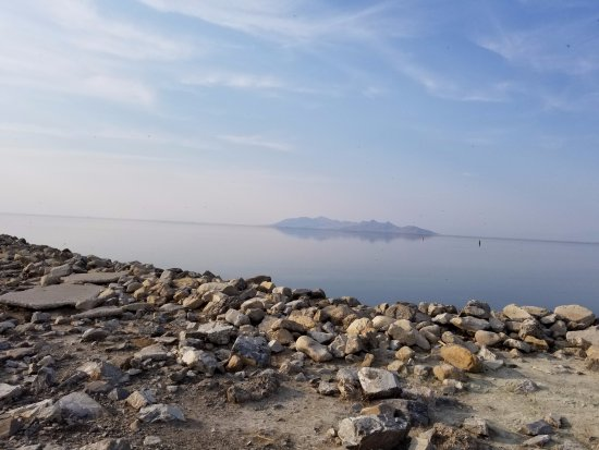 Great Salt Lake: Rocky beach