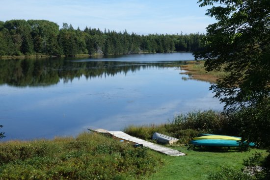 Kayak Cape Breton & Cottages: This is the lake front directly in front of the boathouse.