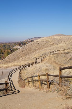 Camel's Back Park: Trail along the top of the hill.
