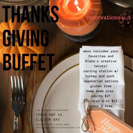 Ellison Bay, WI: Thanksgiving Buffet