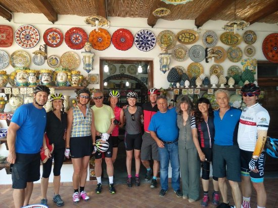 Salida, CO: A fun stop on our Sicily bike tour.  Beautiful pottery!
