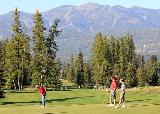 Golfing at Whitefish Lake Golf Course
