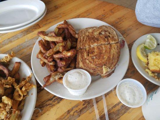 Westport, MA: Reuben Sandwich with Egg Plant fries