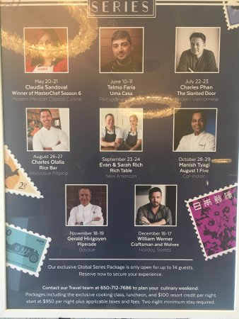 The Ritz-Carlton, Half Moon Bay: Global Cuisine Series, where you get to learn from the most AMAZING Chefs!!