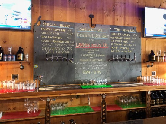 Dundalk, MD: Bar area with list of beers on tap