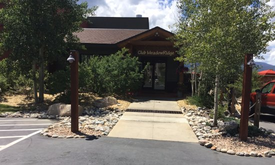 Winter Park, CO: the entrance to Club MeadowRidge