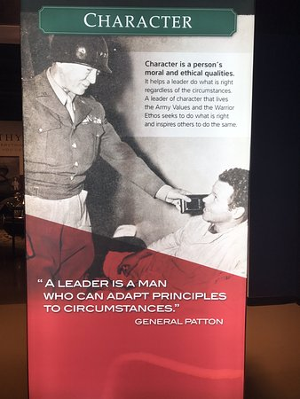 Patton Museum of Cavalry and Armor: Patton's philosophy on leadership.