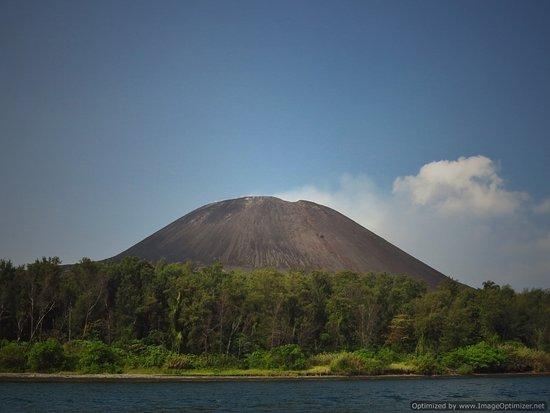 Krakatau Volcano (Krakatoa): Krakatau at day time