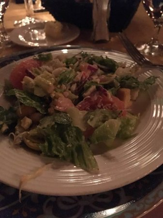Hugo's Cellar: Ceasar's Salad made at the table