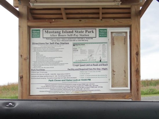 Mustang Island State Park: information