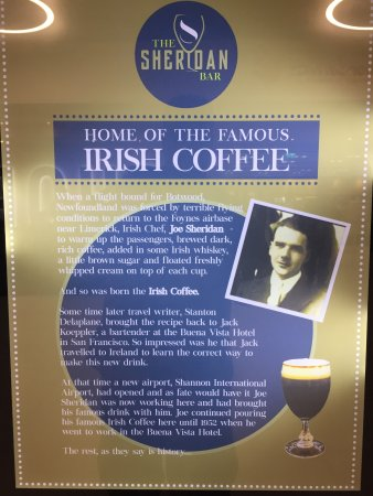 Home of Irish Coffee inside Shannon Airport