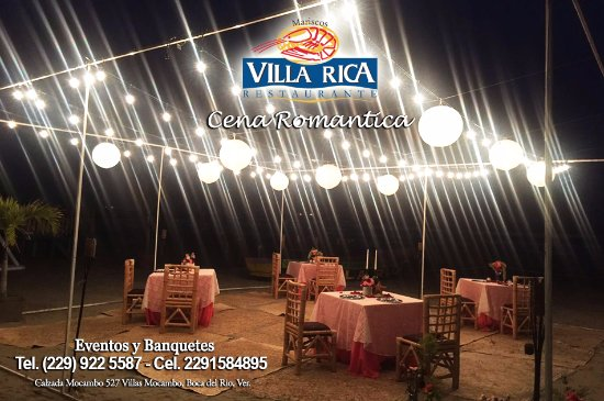 Villa Rica Mocambo: Villa Rica Cena Romantica