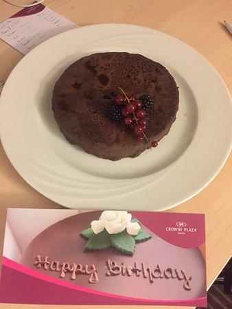 Crowne Plaza Zurich Cake On My Birthday