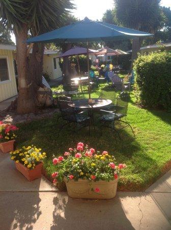 Beach House Inn & Apartments: Central courtyard