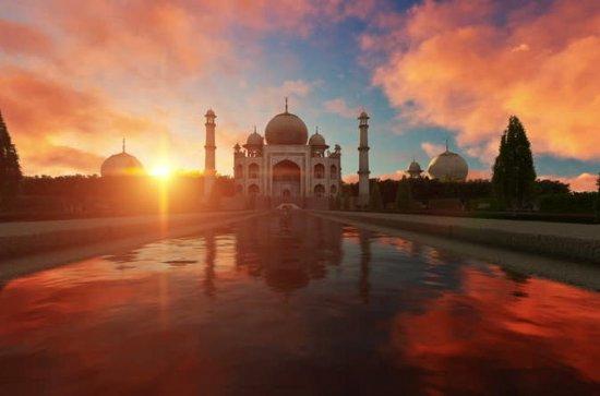 Nascer do sol Taj Mahal Tour de Delhi