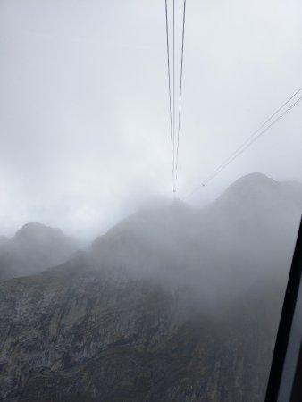 Mount Pilatus: David Papkin in cable car cold.....